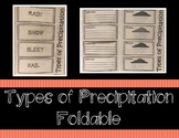 Types of Precipitation Foldable / Interactive Notebook