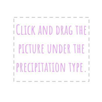 Types of Precipitation Matching & Sorting   Paper & Digital   NGSS