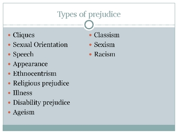 Types of Prejudice in To Kill a Mockingbird - PowerPoint Presentation