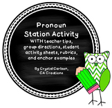 Types of Pronouns Stations/Centers Activity {Common Core Aligned}