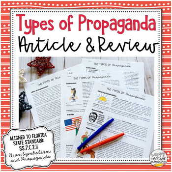 Types of Propaganda Techniques Article & Review   Civics & American Government