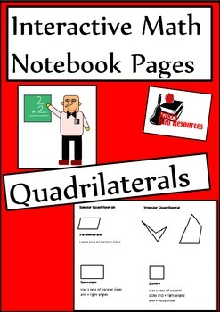 Types of Quadrilateral Lesson for Interactive Math Notebooks