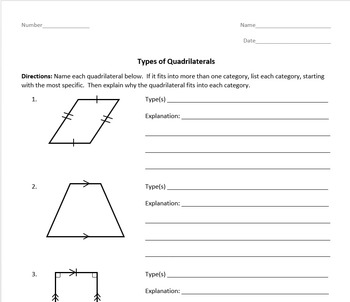 Types of Quadrilaterals - 5th Grade Geometry