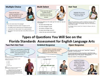 Types of Questions on the Florida Standards Assessment for English Langauge Arts