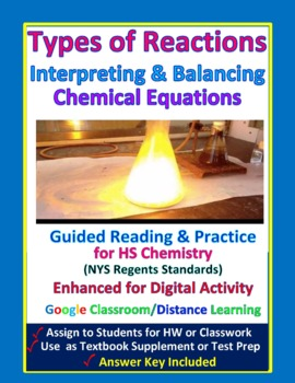 Types of Chemical Reactions & Balancing Equations: Essential Skills Lesson #20