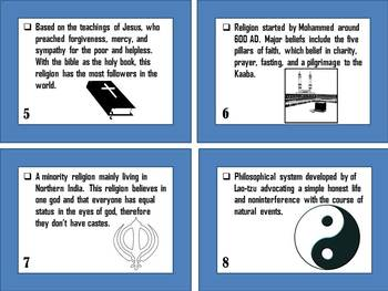 Types of Religions Memory Matching Game