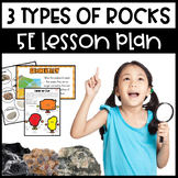 Three Types of Rocks 5E Lesson with PowerPoint and Interactive Notebook page