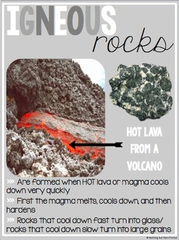 Types of Rocks Anchor Charts