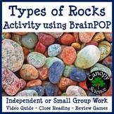 Types of Rocks Activity using BrainPOP