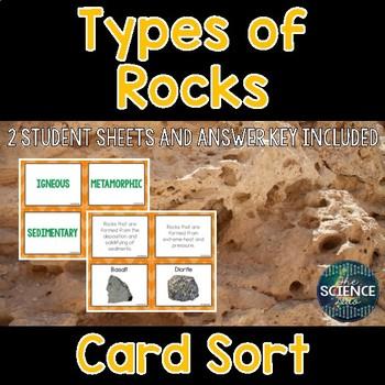 Types of Rocks Card Sort