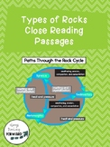 Types of Rocks Close Read Passages