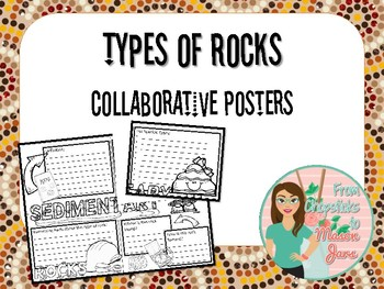 Types of Rocks Collaborative Posters - Sedimentary, Metamorphic and Igneous