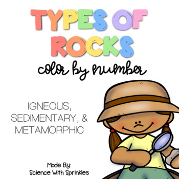 Types of Rocks Color By Number