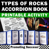 Types of Rocks Foldable Activity Cut and Paste Accordion Book w/ Differentiation
