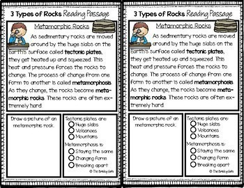Types of Rocks Reading Passages