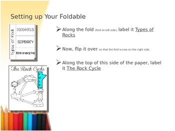 Types of Rocks / Rock Cycle Foldable Whole Group Instruction