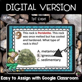 Rocks (Sedimentary, Metamorphic and Igneous)  (24 Task cards)