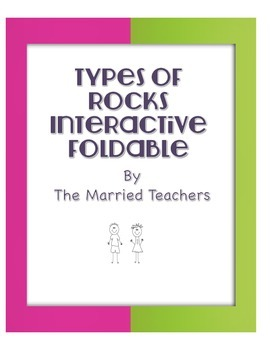 Types of Rocks Vocabulary Interactive Science Notebook Foldable