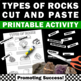 Types of Rocks Worksheets - Cut and Paste Activity with Differentiation