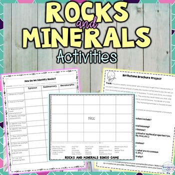 Types of Rocks and Minerals Activity Bundle