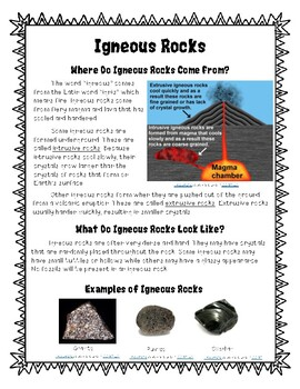 Types of Rocks and Rock Cycle - Information, Foldable, and Experiment