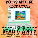 Types of Rocks and the Rock Cycle DIGITAL Read and Apply f