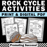 Rock Cycle Worksheets, Types of Rocks 4th Grade Science Packet No Prep