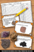 Types of Rocks Task Cards, The Rock Cycle, Earth Science Centers Games SCOOT