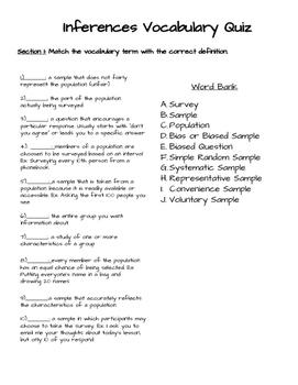 Types of Samples Quiz