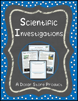 Types of Scientific Investigations Close Read Grades 4-5