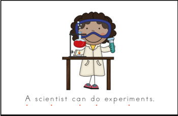 Types of Scientist Early Emergent Reader -  Full Color Version