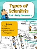 Types of Scientists - Intro to Science
