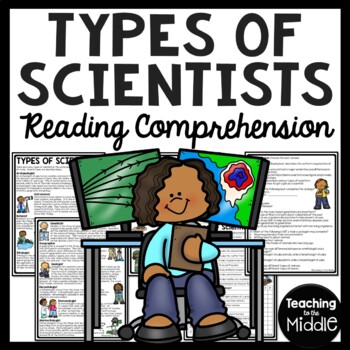 Types of Scientists Reading Comprehension Worksheet, Science