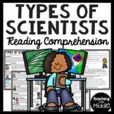 Types of Scientists Reading Comprehension Worksheet