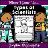 Types of Scientists Research Graphic Organizers | Distance