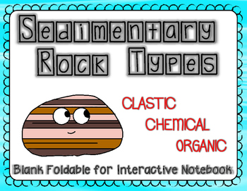 Sedimentary Rock Types Foldable (Clastic, Chemical, and Organic)