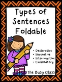 Types of Sentences Foldable
