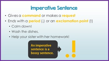 Four Types of Sentences (Sentences with Different Purposes)