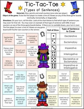 Types of Sentences Games (Declarative, Interrogatory, Exclamatory, Imperative)