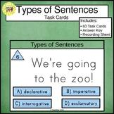 Types of Sentences Task Cards Declarative Interrogative Imperative Exclamatory