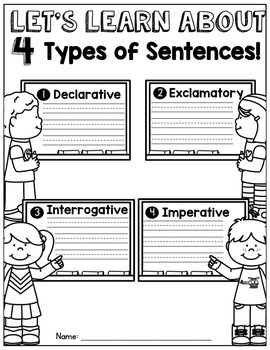 Types of Sentences NO PREP Packet