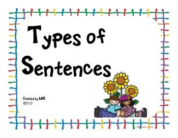 Types of Sentences (3 Poster Set)