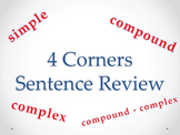 Types of Sentences 4 Corners Review Game