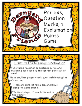 Punctuation Game: Periods, Question Marks, Exclamation Points