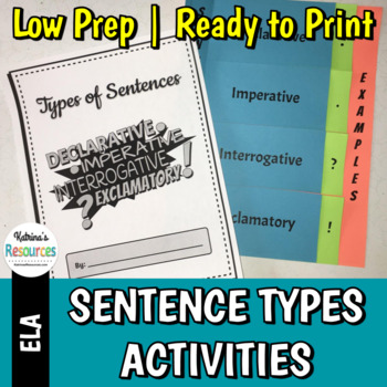 Four Types of Sentences Activities & Flip Book