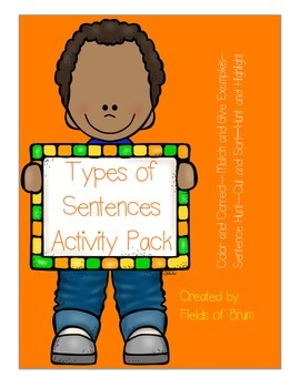 Types of Sentences Activities Pack