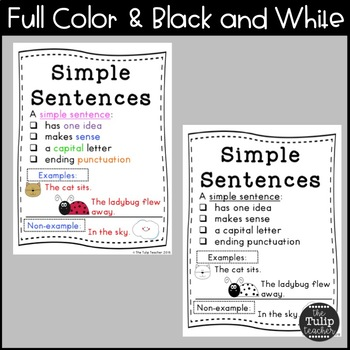 Types of Sentences Anchor Charts {11 Concepts}