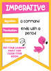 Types of Sentences Banners with a *Flamingo Pineapple Tropical* Theme