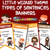 Types of Sentences Banners with a *Harry Potter* Wizard Theme