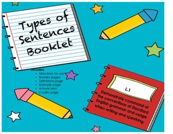 Types of Sentences Booklet